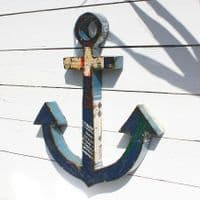 Anchor Wall Hanging   Recycled Steel Drum Anchor